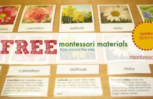Free Montessori Materials